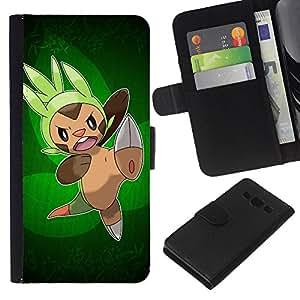 JackGot ( Pokemn Attack ) Samsung Galaxy A3 la tarjeta de Crédito Slots PU Funda de cuero Monedero caso cubierta de piel