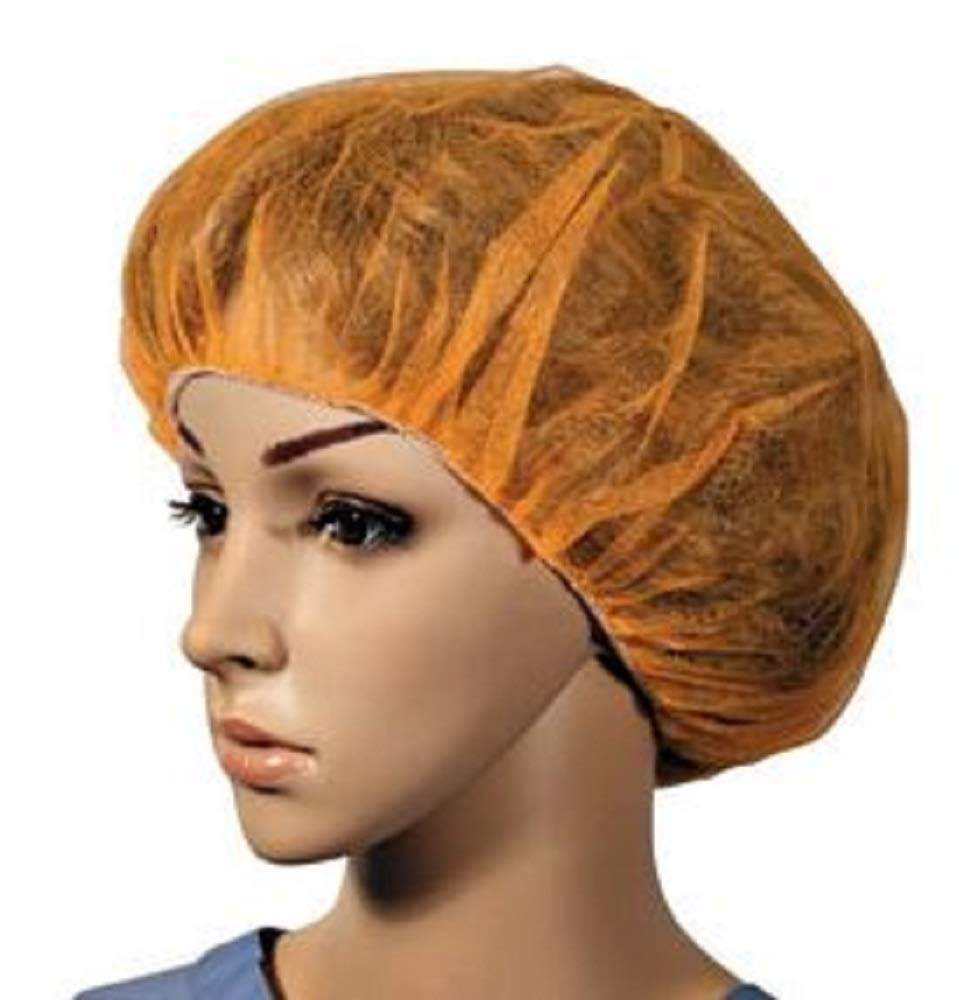 100 Pack Orange Nylon Hairnets 24''. Disposable orange hairnets. Protective Hair Nets with Elastic Edge Mesh. Stretchable Hairnet Caps for Non-Medical Use. Lightweight, Breathable. Wholesale price.