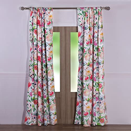 Barefoot Bungalow Blossom Curtain Panel Pair