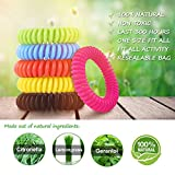 Coniso 30 Piece Mosquito Repellent Bracelets, Natural Waterproof Wristbands, Pest Bug Control Bands For Kids and Adults Outdoor Camping Fishing Traveling