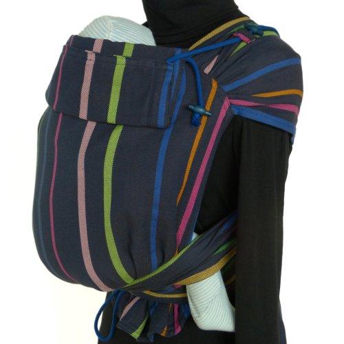 DIDYMOS Meh-Dai/Mei Tai (DidyTai) Baby Carrier Stripes Lisa (Organic Cotton), One Size