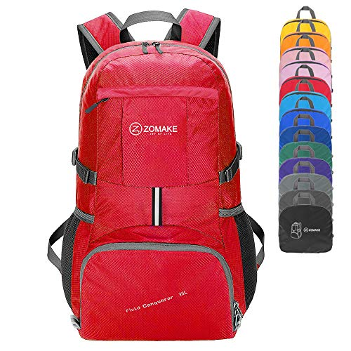 ZOMAKE Lightweight Packable Travel Backpack, 35L Water Resistant Hiking Daypack Foldable Backpack for Women Men, Outdoor Camping