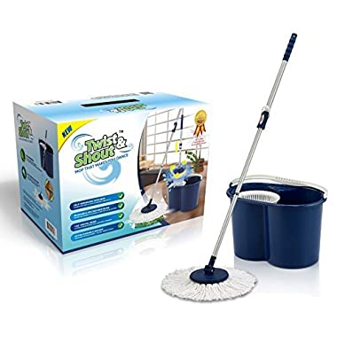 Twist and Shout Mop - Award Winning Hand Push Spin Mop from the Original Inventor