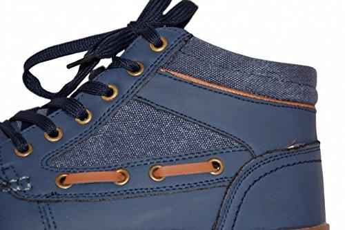 Cargoquay Herren Schnürstiefel - Men Casual Sneakers im maritimen Look