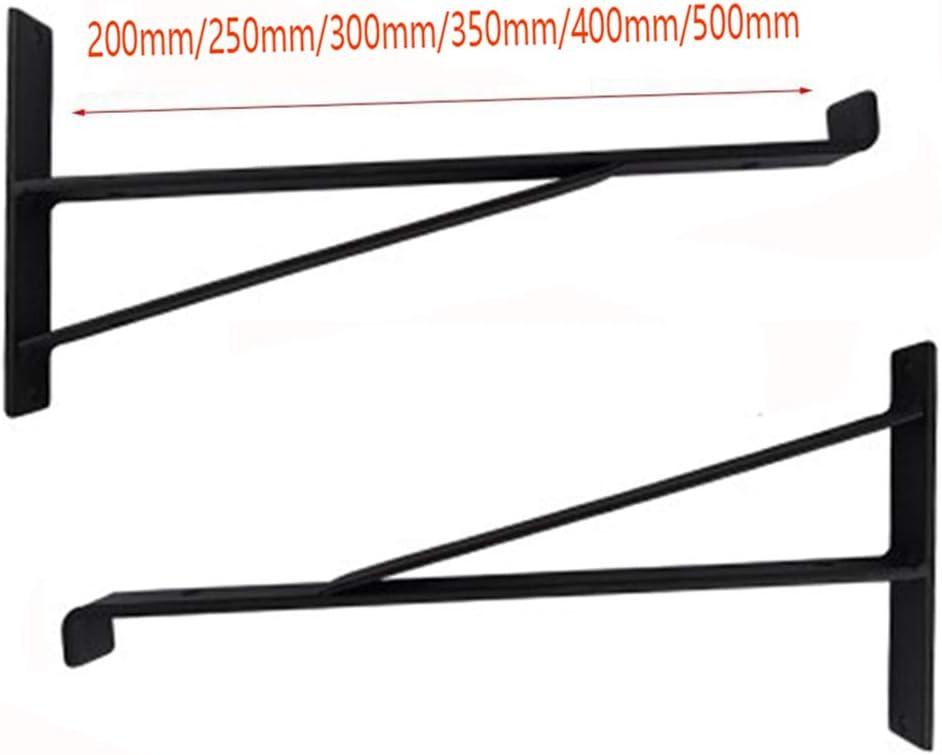 GDAN 2 Pack Industriel Equerre Etagere Support D/étag/ère Fer R/étro 90 Degr/és dangle Brace Mural /Équerre 200//250mm Noir