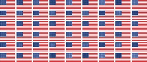 Mini Sticker Pack smooth - 20x12mm - Self-Stick - USA - United States - Self-Adhesive - Flag Decals - for Car, Office and Home - 54 pieces