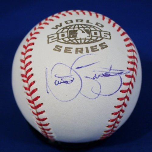 Autographed Nate Robertson Official 2006 World Series Major League Baseball w/ - World Autographed Official Series Baseball