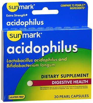 Sunmark Acidophilus, Pearl Capsules, Extra Strength - 30 Capsules, Pack of 6