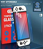 2 Pack Tempered Glass Screen Protector for Switch