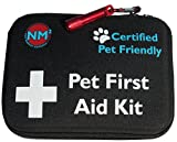 Pet First Aid Kit for Dogs & Cats | 45 Piece First Aid Bag for Pets, Animals | Perfect for Travel Emergencies with Pet First Aid Guide Book and Instructions | Certified Pet Friendly | FDA Approved