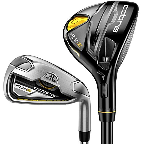Cobra Men s Fly Z Black 7 1 Combo Iron Set, Graphite Hybrids with Steel Irons, Stiff, 3-4H, 5-GW, Right Hand, 3-4H
