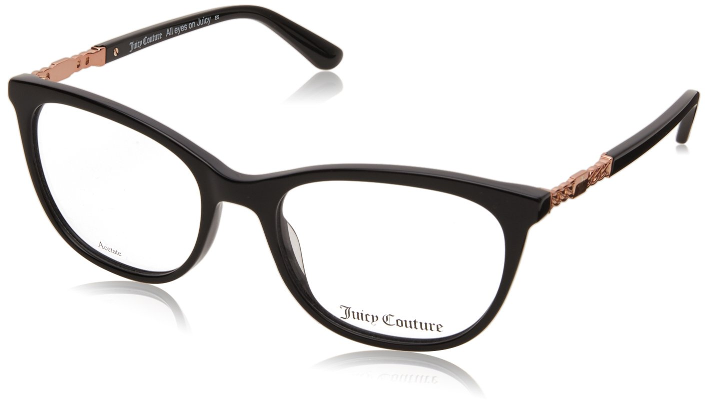 Juicy Couture JU173 Monturas de Gafas para Mujer, Black, 52 mm ...