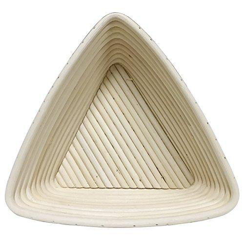 BetterJonny - Round Oval Long Various Size Artisan Brotform Bannetons Bread Dough Proofing Rattan Basket & Liner Combo (#19 Triangle 8