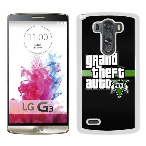 LG G3 Case,Grand Theft Auto 3 White LG G3 Shell Phone Case,Luxury Cover