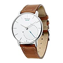 Balerion Smart watch band for Withings Steel HR 36MM, Genuine Leather Strap Replacement Watch band Bracelet for Withings Steel HR 36MM--Brown 36MM