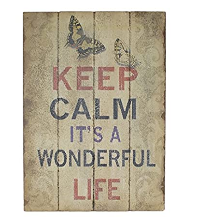 Amazon Cheung's FP60 Wooden Wall Art With Life Quote Unique Life Quote Posters
