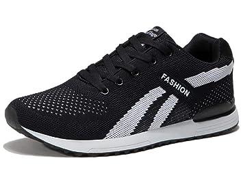 GLSHI Hombres Ligero Trotar Zapatos Tejer Casual Minimalista Pareja Zapatos Respirable Zapatillas: Amazon.es: Deportes y aire libre