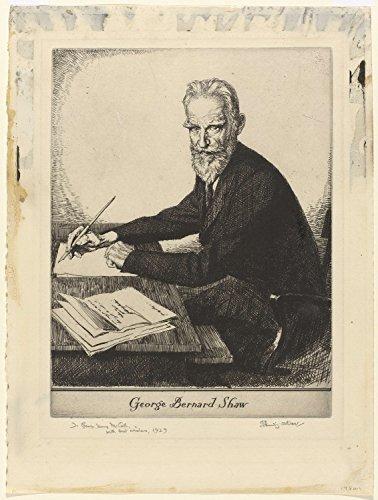 Classic Art Poster - Portrait George Bernard Shaw, Edmund Joseph Sullivan, 1929 16