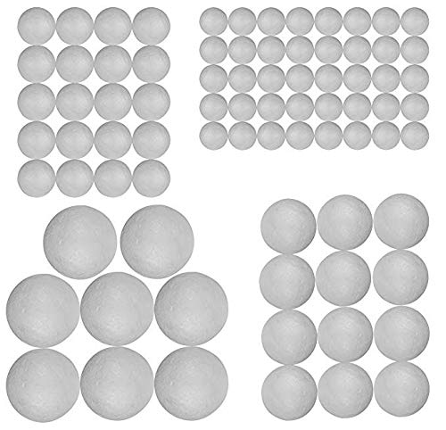 (❀ liyeziaaa ❀ Foam Ball, Craft Styrofoam Balls 80 Pieces for DIY Crafting and Decoration by My Toy House)