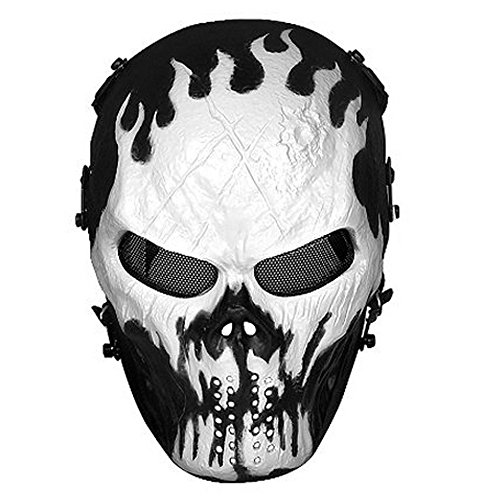 Skull Cool Full Face Airsoft Masks for Adults Metal Mesh Eye Protection Outdoors Mask Ghost Horror Funny Mask