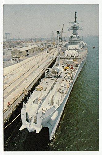 Battleship New Jersey BB-62, Long Beach, California Vintage Original Postcard #2486 - February 15, 1998 ()
