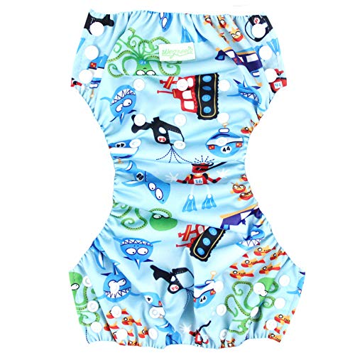 df794cac33 Wegreeco Baby & Toddler Snap One Size Reusable Baby Swim Diaper  (Diving,Ocean,Turtle,Small,3 Pack)