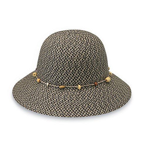 Wallaroo Hat Company Women's Naomi Sun Hat - Natural Woven Fibers - UPF50+ (Raffia Woven Hat)