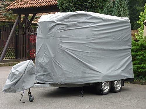 Excolo Pferde Transporter Abdeckung Plane Schutz Haube Schutzhülle Schutzplane Garage Für Große 2er Pferdeanhänger Sport Freizeit