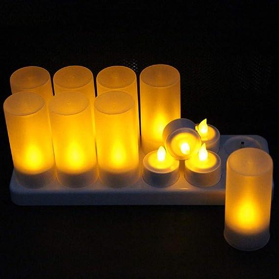 Frostfire Mooncandles/-/Trois bougies en r/ésine r/ésistantes aux intemp/éries pour l/'int/érieur et l/'ext/érieur avec minuterie et t/él/écommande et changement de couleur dimensions 10/c