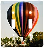 3dRose LLC lsp_1154_2 Hot Air Balloon, Double Toggle Switch
