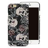 Ed Hardy Skull Rose Black iPhone 6 Plus Case, Black