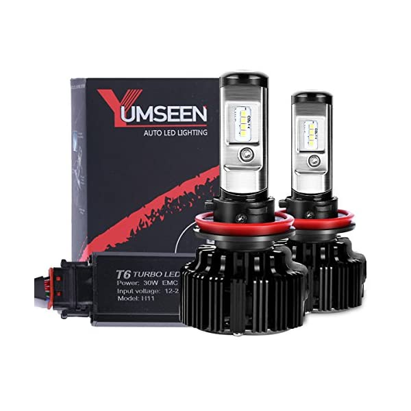 YUMSEEN LED Headlight Bulbs Conversion Kit  60w 6,400Lm 6000K Cool White Philips Light Source   2 Yr Warranty