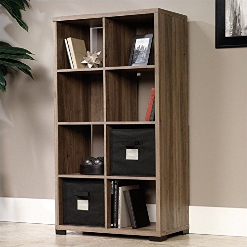Sauder(R) Transit Collection Cube-Style Bookcase Room Divider, Salted (Set Shaker Bookcase Bookcase)