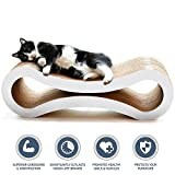 PetFusion Ultimate Cat Scratcher Lounge, Large, Cloud White