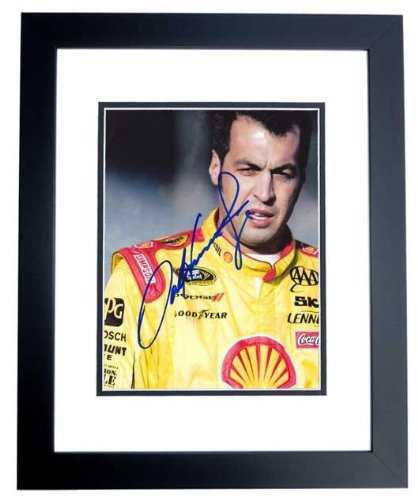 Autographed Sam Hornish Jr. Photo - 8x10 inch BLACK CUSTOM FRAME Guaranteed to pass or JSA Indy 500 Champion - PSA/DNA - 500 Indy Champions