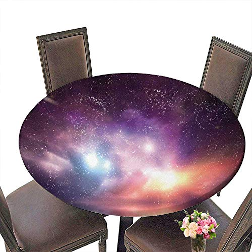 (PINAFORE Premium Tablecloth House Ap Ment Ocean Under Northern Lights Galaxy Milky Way MysticalDark Cosmos Reflection Everyday Use 63