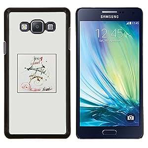 KLONGSHOP // Cubierta de piel con cierre a presión Shell trasero duro de goma Protección Caso - Letra C - Samsung Galaxy A7 A7000 //