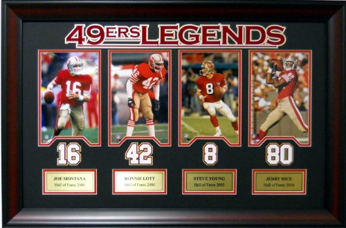 NFL Football San Francisco 49ers Legends Joe Montana #16 ...