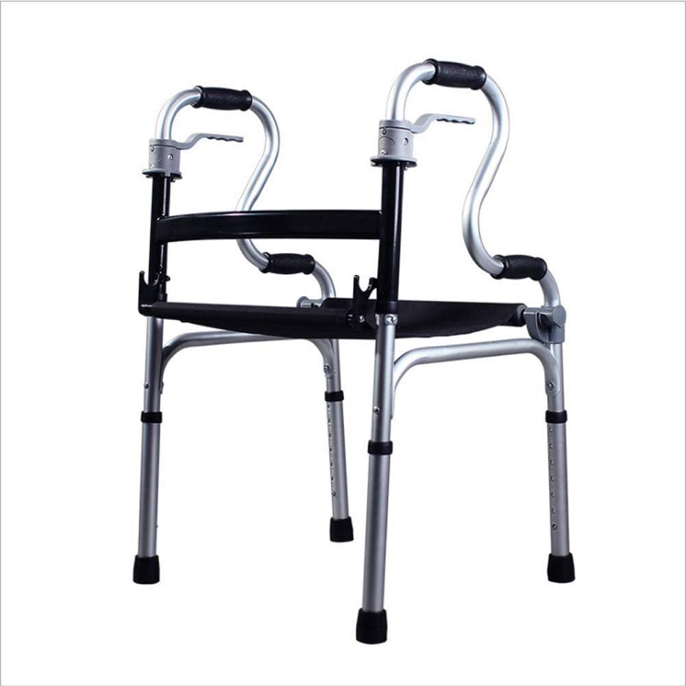 歩行器、高齢者用歩行器、4本足歩行器、車輪付き歩行器、障害者用クッション付き折りたたみ式アルミニウム合金歩行器、高齢者用4フィート歩行器