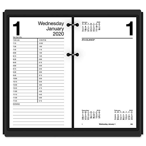 AT-A-GLANCE 2020 Daily Desk Calendar Refill, 4-1/2
