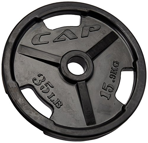 CAP-Barbell-Black-Olympic-Rubber-Grip-Plate