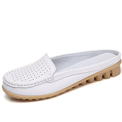 8a26068c58c2 Women s Casual Shoes Lazy Shoes 2018 Summer New Fashion Peas Shoes  Comfortable Leather Shoes Wear Shoes