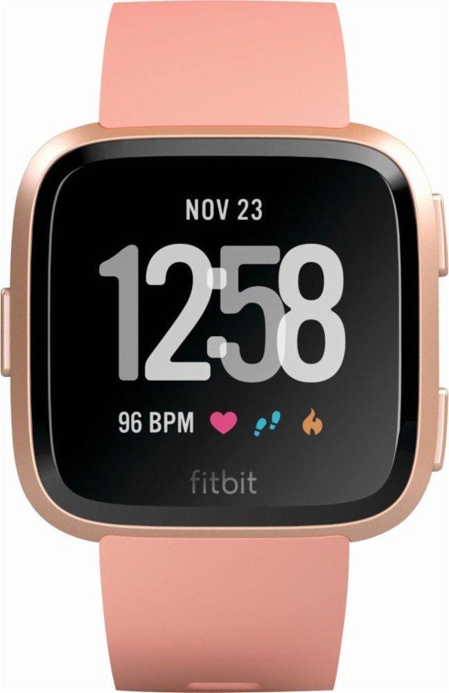 Fitbit Versa Peach FB504RGPK フィットビットアクティビティトラッカー,活動計, スマートウォッチ [並行輸入品] B07BGVQZGN