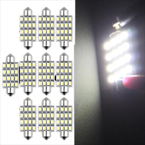 38 opinioni per 10 AUTO LAMPADINA SILURO 16 LED SMD 3528 BIANCO 42mm