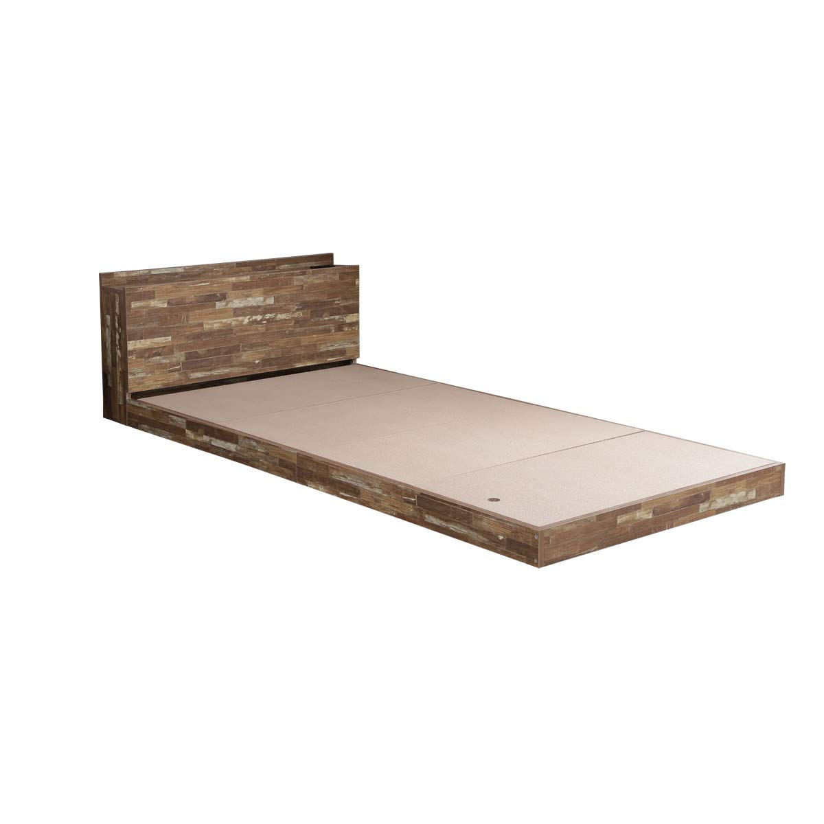 ダークブラウン【フレームのみ】/【シングル】 ベッド シングルベッド ベッドフレーム フレーム 収納 収納付き ベッド下収納 大容量 引き出し ロー フロアき B01N9F76XX ダークブラウン【フレームのみ】