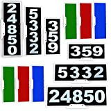 Vertical or Horizontal Mailbox Address Plaque, Reflective 911 Plate, Most Visible Mailbox Address Marker Money Can Buy!