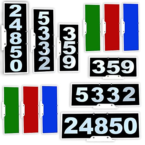 Mailbox Plaque (Vertical or Horizontal Mailbox Address Plaque, Reflective 911 Plate, Most Visible Mailbox Address Marker Money Can Buy!)