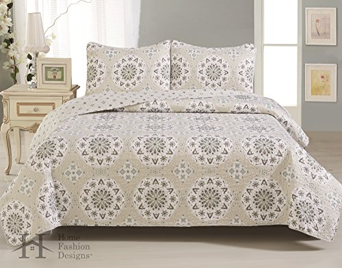 Best Prices! Abigail Collection 3-Piece Luxury Quilt Set with Shams. Soft All-Season Microfiber Beds...