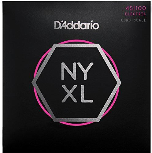 D'Addario NYXL45100 Nickel Wound Bass Guitar Strings, Regular Light, 45-100, Long Scale (Scale Long)