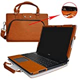"Aspire E 15 Case,2 in 1 Accurately Designed Protective PU Leather Cover + Portable Carrying Bag For 15.6"" Acer Aspire E 15 E5-575 E5-575G E5-533 E5-533G Series Laptop,Brown"